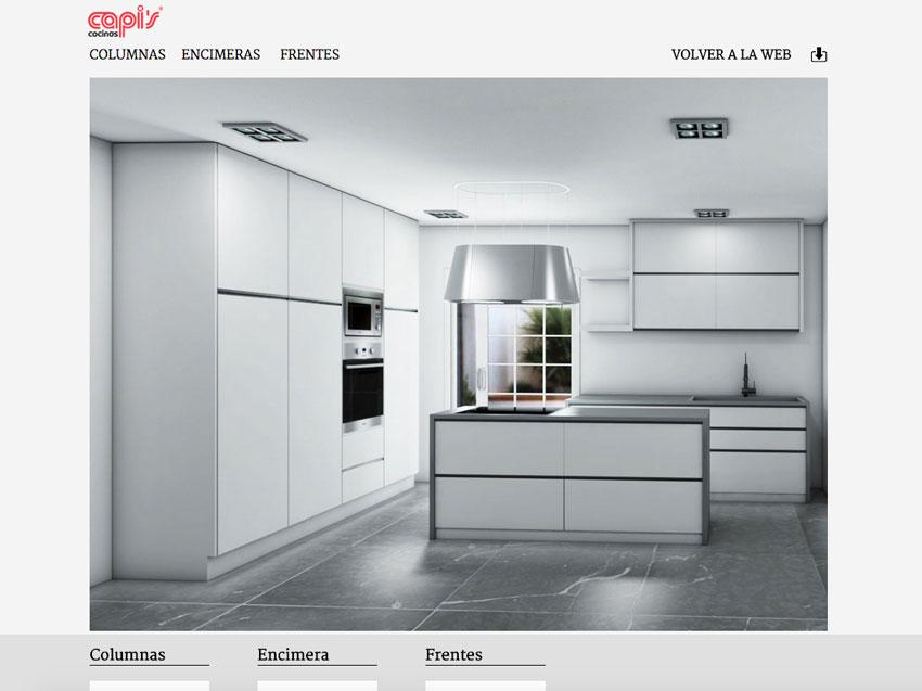 Configurador de cocinas de Capis
