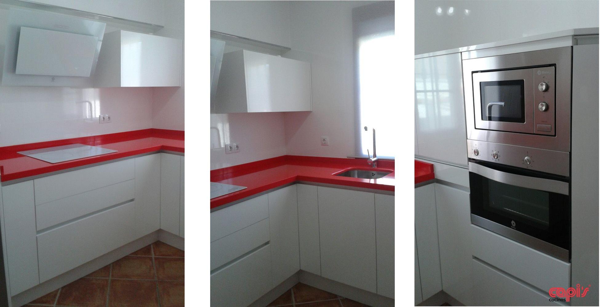 Cocina rosso monza cocinas capis dise o y fabricaci n for Comprar encimera cocina