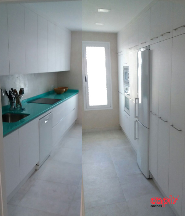 El mayor provecho de una cocina peque a cocinas capis dise o y fabricaci n de cocinas en - Cocinas estrechas y pequenas ...