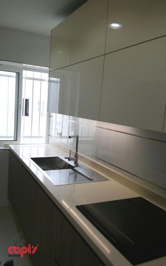 Diseo para encimera de cocina en hormign escurridor integrado - Cocinas capi ...
