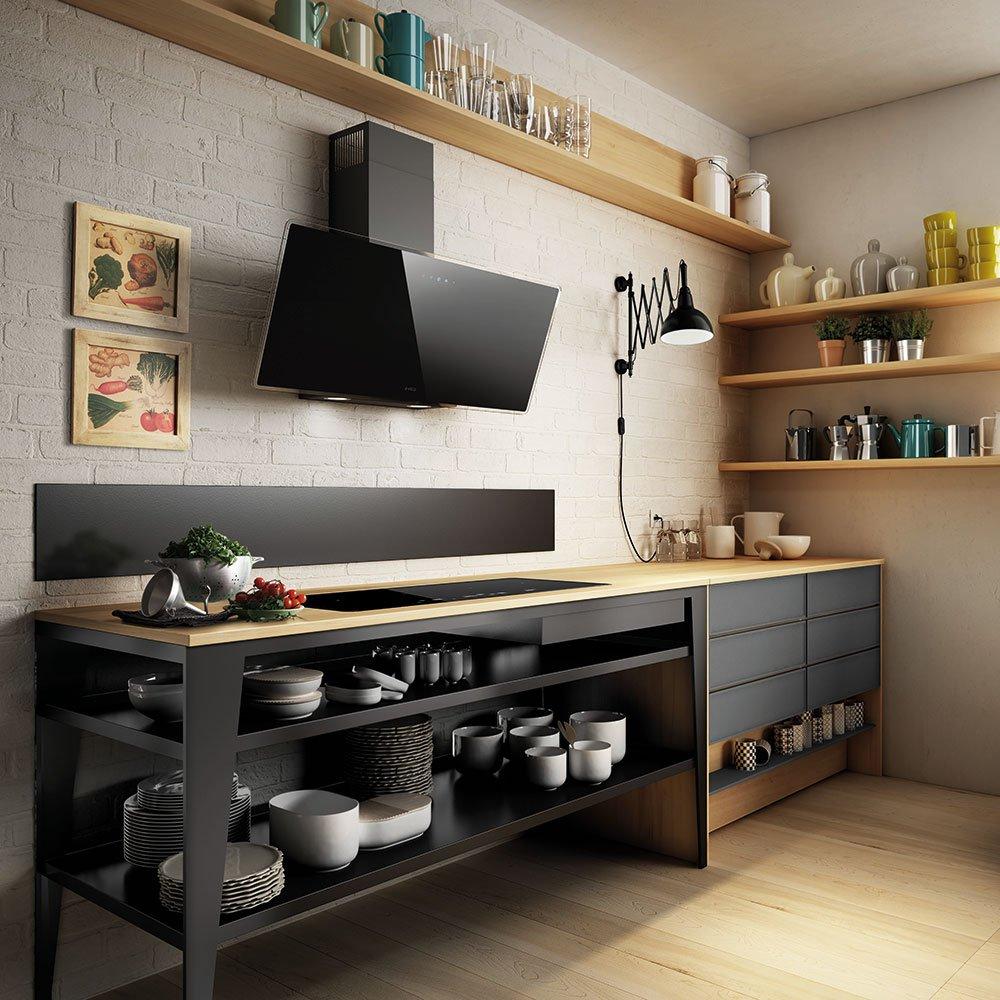 7 propuestas en campanas extractoras de cristal cocinas for Configurador de cocinas
