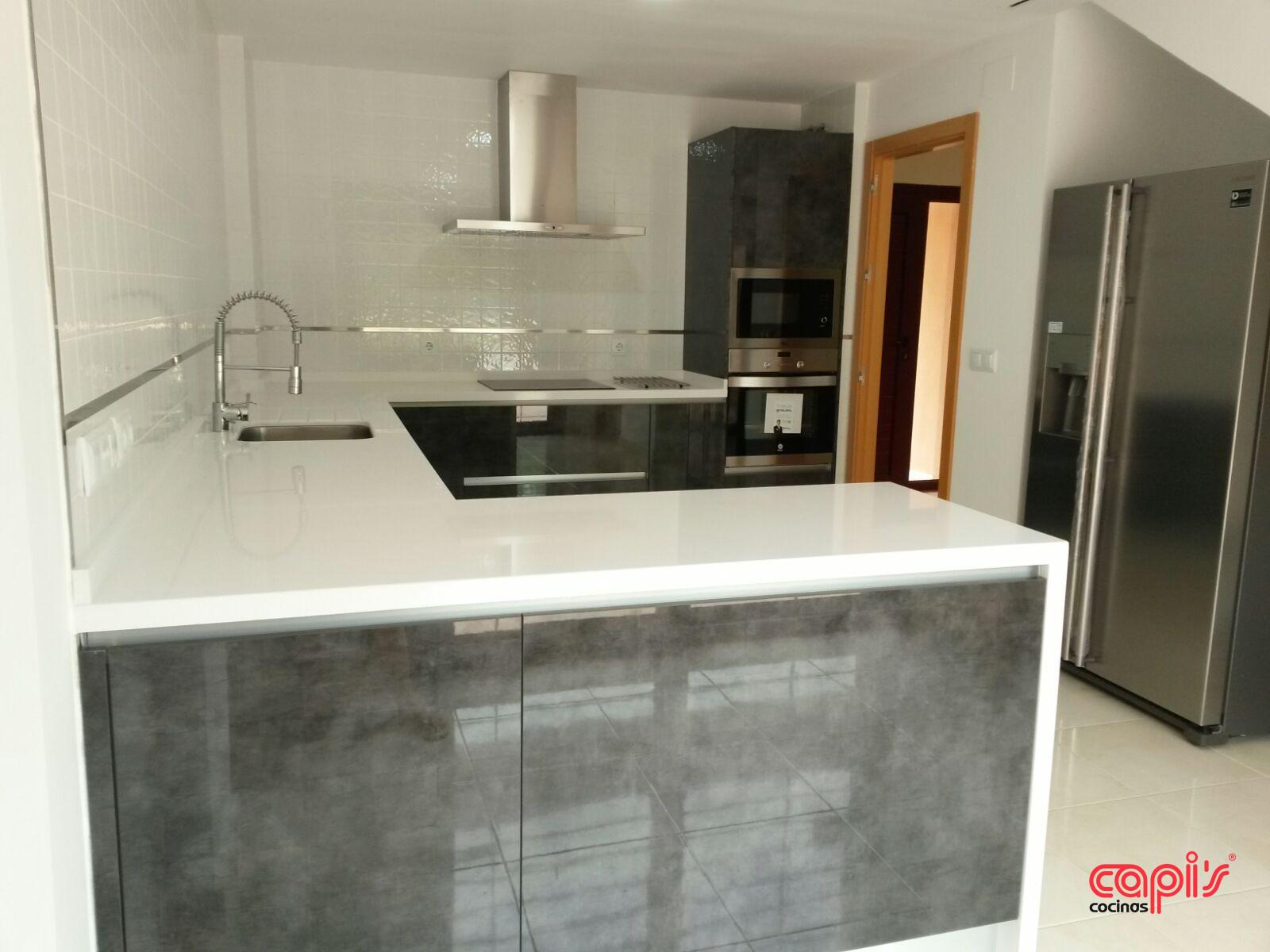Cocina Antracita - Cocinas Capis, diseño y fabricación de cocinas en ...