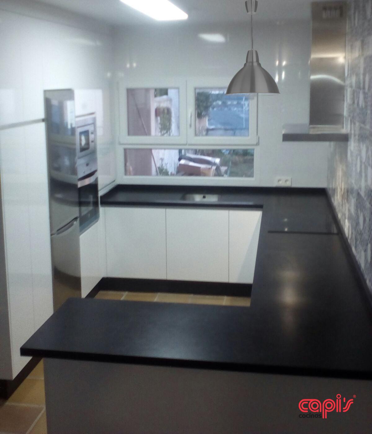 Cocina blanco y marengo - Cocinas Capis, diseño y fabricación de ...