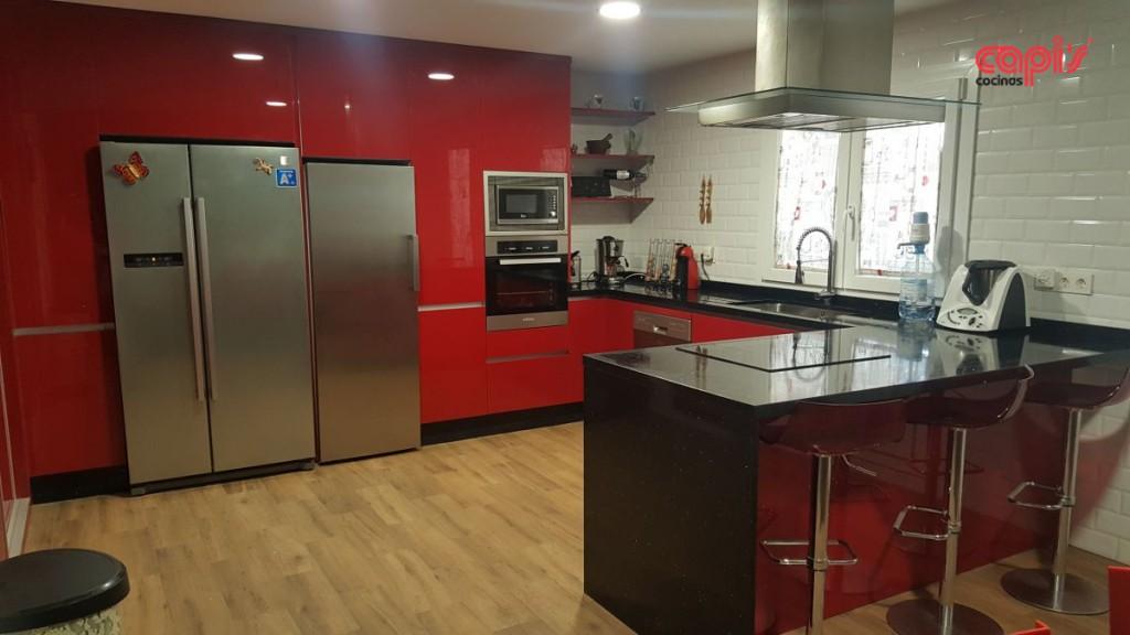 Perfecto Cocinas Rojas Imágenes - Ideas para Decoración la Cocina ...