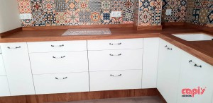 Cocina Mosaico tiradores 1